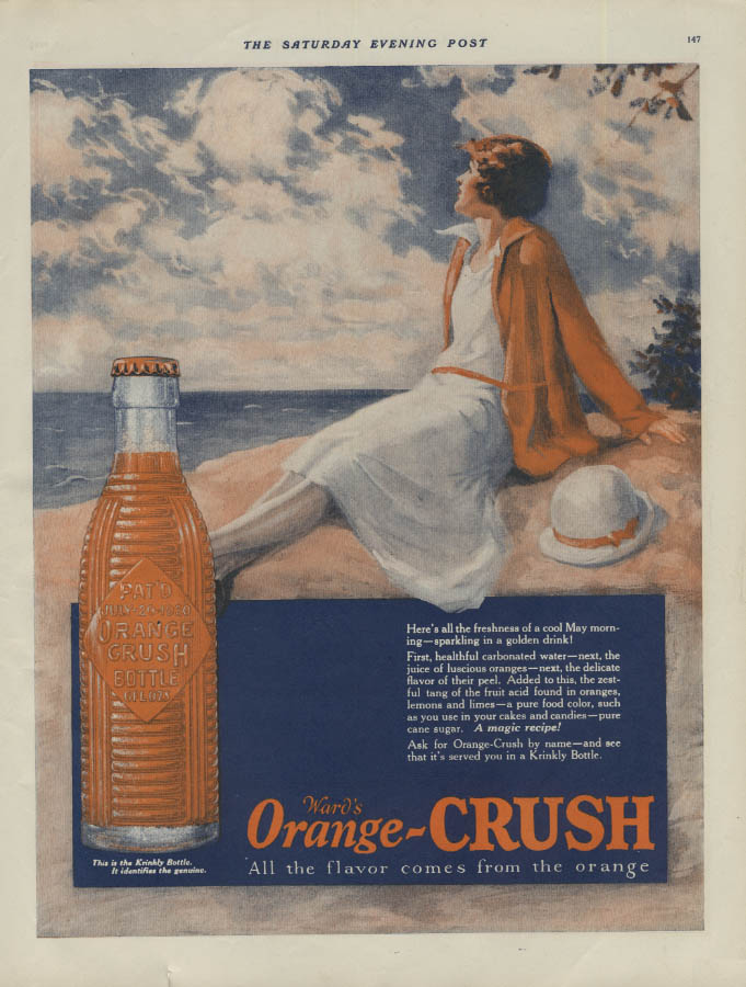 Here's all the freshness of a cool May morning Orange Crush ad 1926 P