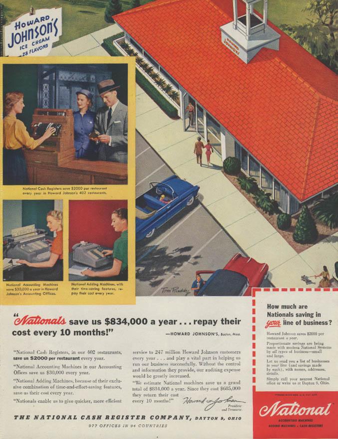 Image for Howard Johnson's Ice Cream National Cash Register ad 1955 P