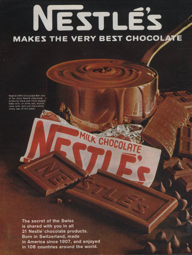 Image for The secret of the Swiss - Nestle's makes the very best chocolate ad 1967 L
