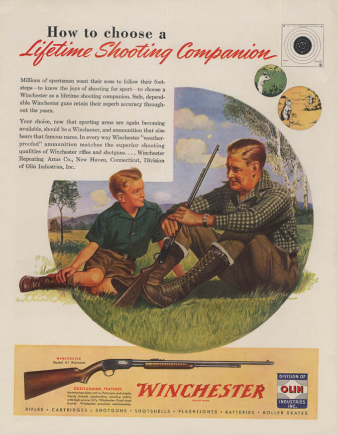 How to choose a lifetime Shooting Companion Winchester Arms ad 1946 H