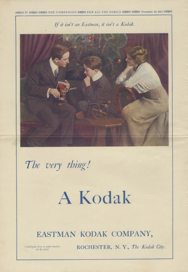 The very thing! Kodak Camera for Christmas ad 1913