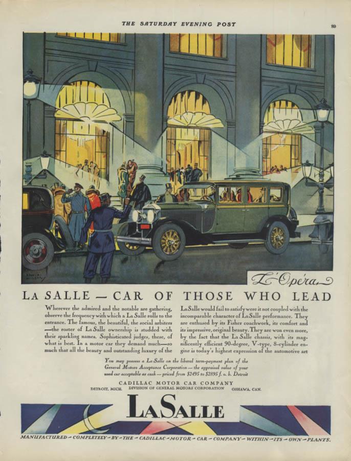 Car of Those Who Lead La Salle at L'Opera Paris ad 1928 SEP