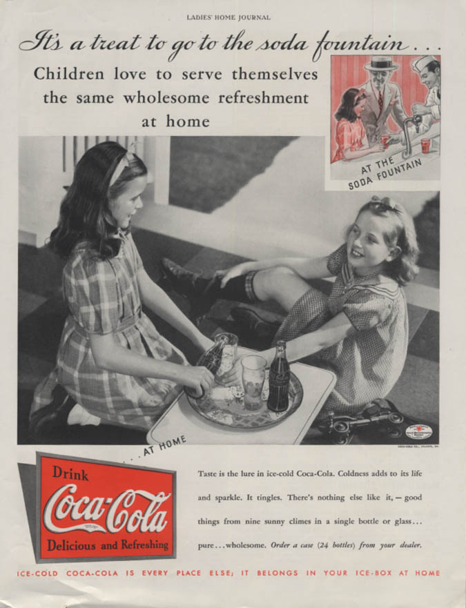 Children love to serve themselves Coca-Cola ad 1935 LHJ