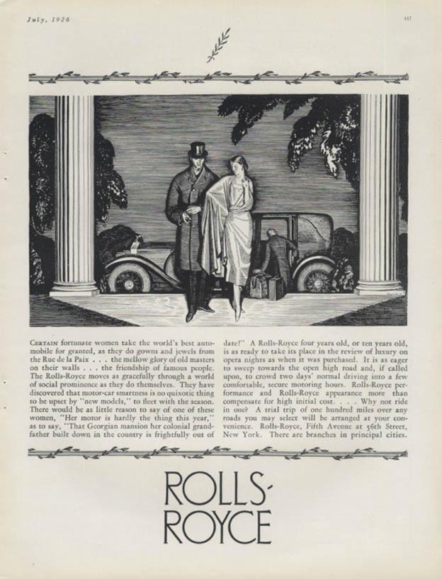 Certain fortunate women Rolls-Royce ad 1926 H&G