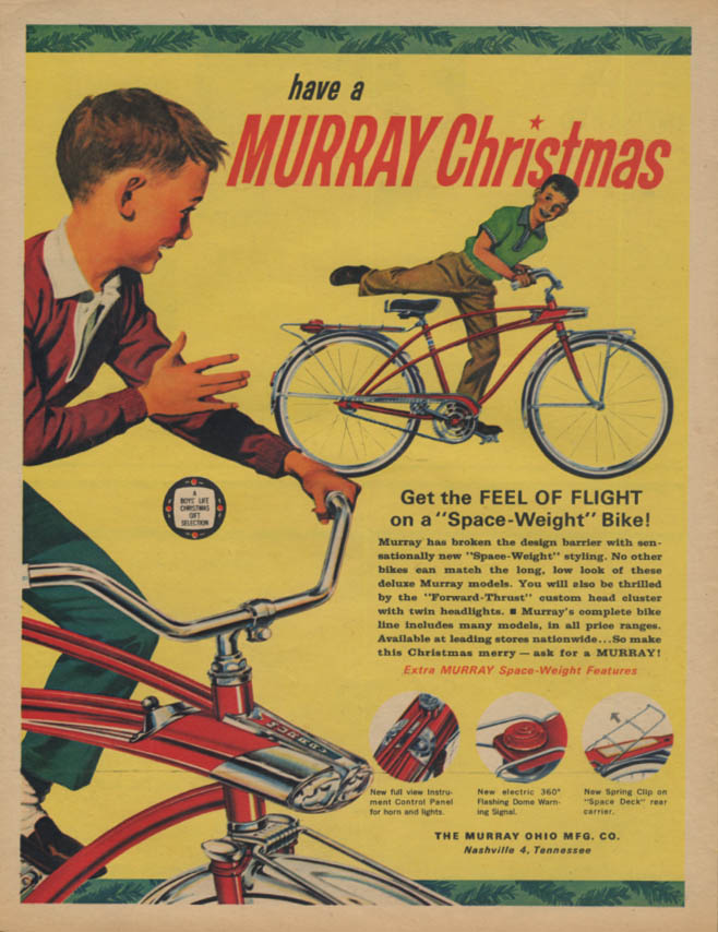 Have a Murray Christmas Space-Weight Bicycle ad 1963 BL