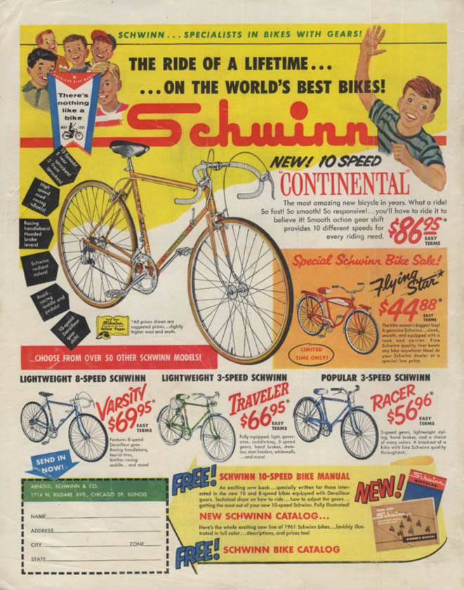 Ride of a Lifetime Schwinn Continental Flying Star Varsity
