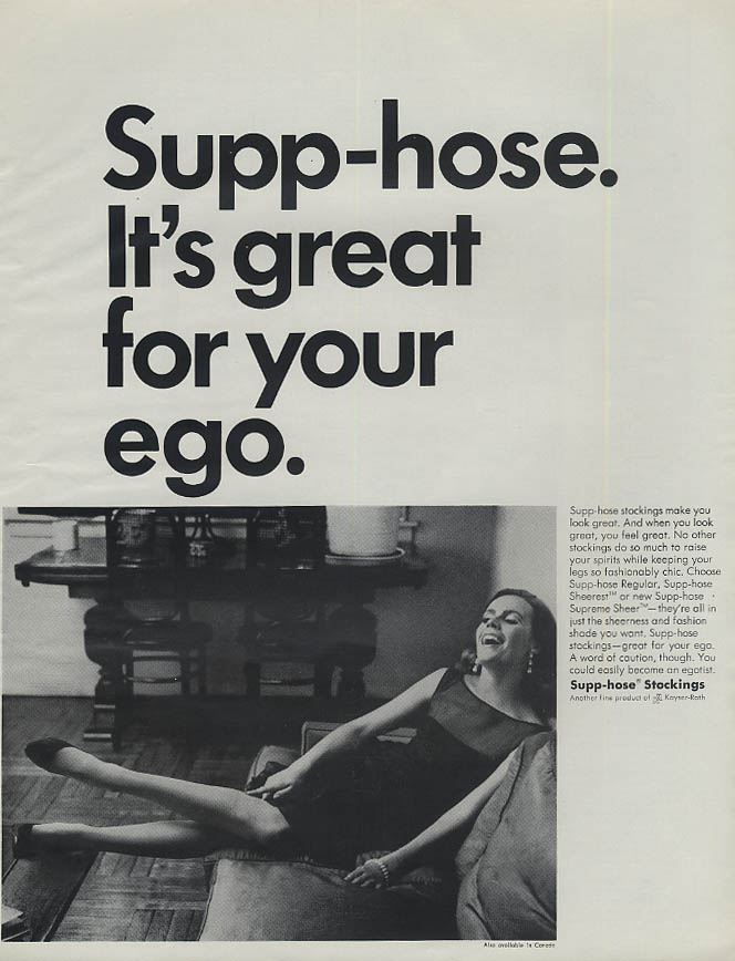 Great for your ego. Supp-Hose Stockings ad 1966 LHJ