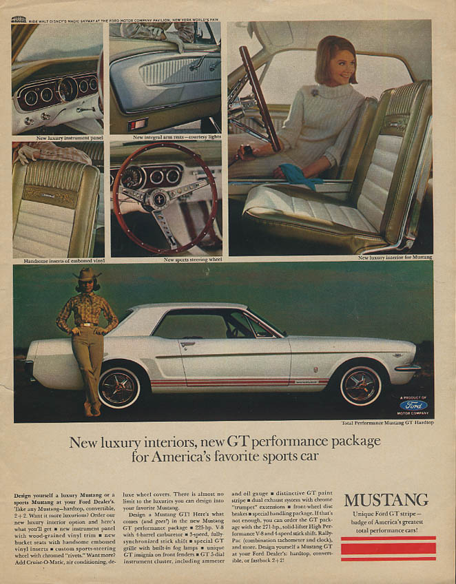 Image for New luxiry interiors new GT performance Ford Mustang ad 1965 Look