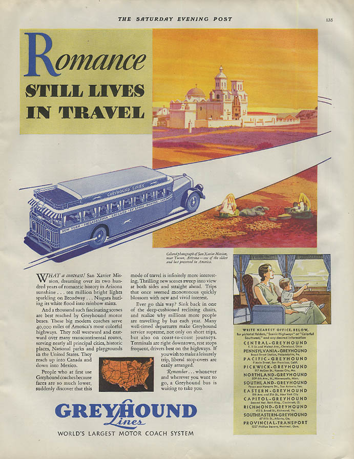 Romance Still Lives in Travel - Greyhound Bus ad 1931 SEP