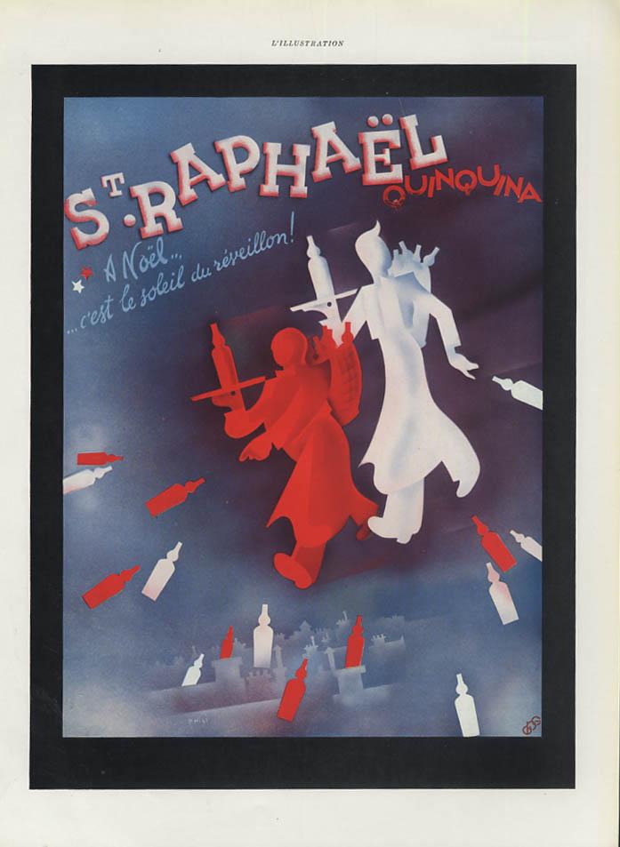 A Noel C'est la soleil du reveillon! St Raphael Quinana ad 1938 France