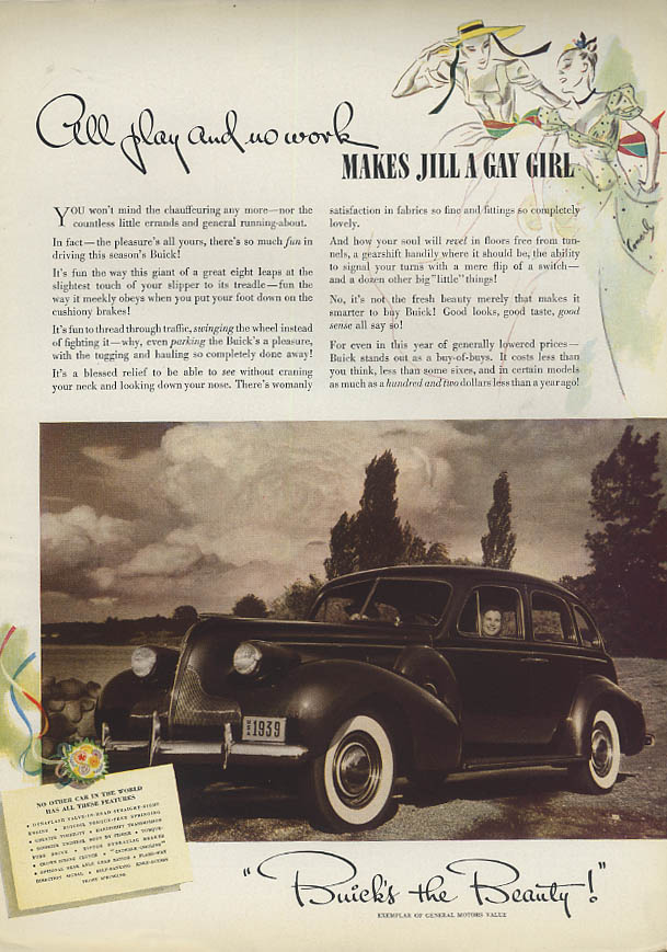 All play and no work makes Jill a Gay Girl Buick ad 1939