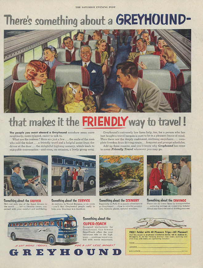 Toy gun holster Canada Dry Ginger Ale / Greyhound Bus Friendly ad 1951