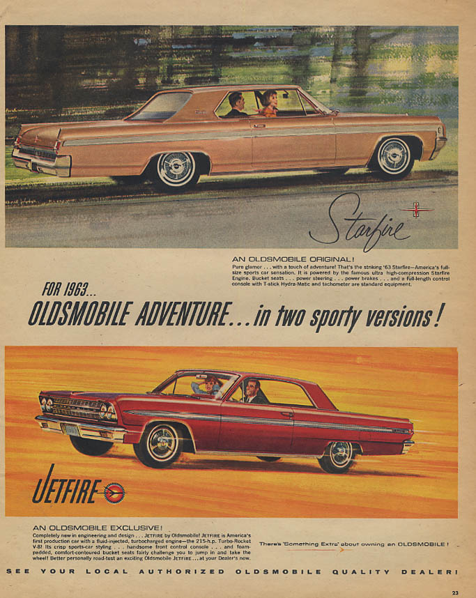 Adventure in two sporty versions Oldsmobile Starfire & Jetfire dad 1963 TW