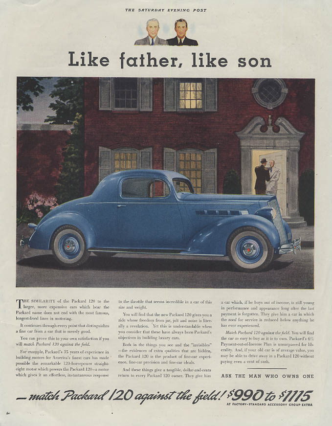 Like father, like son - Packard 120 Coupe ad 1936 SEP