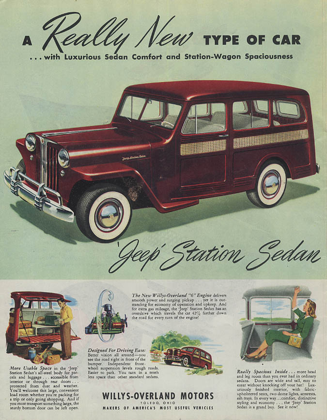 A Really New Type of Car - Jeep Station Sedan ad 1948 Collier's