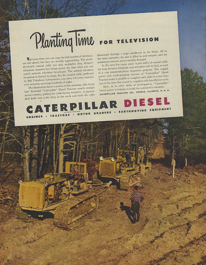 Image for Planting time for Television Caterpillar Diesel Crawler Tractor ad 1946 Canada