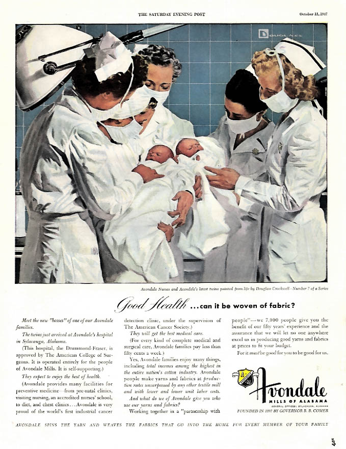 Good Health can it be woven of fabric? Avondale Mills ad