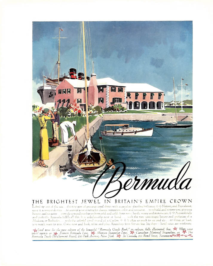 The Brightest Jewel in Britain's Empire Crown - Bermuda ad 1935 F