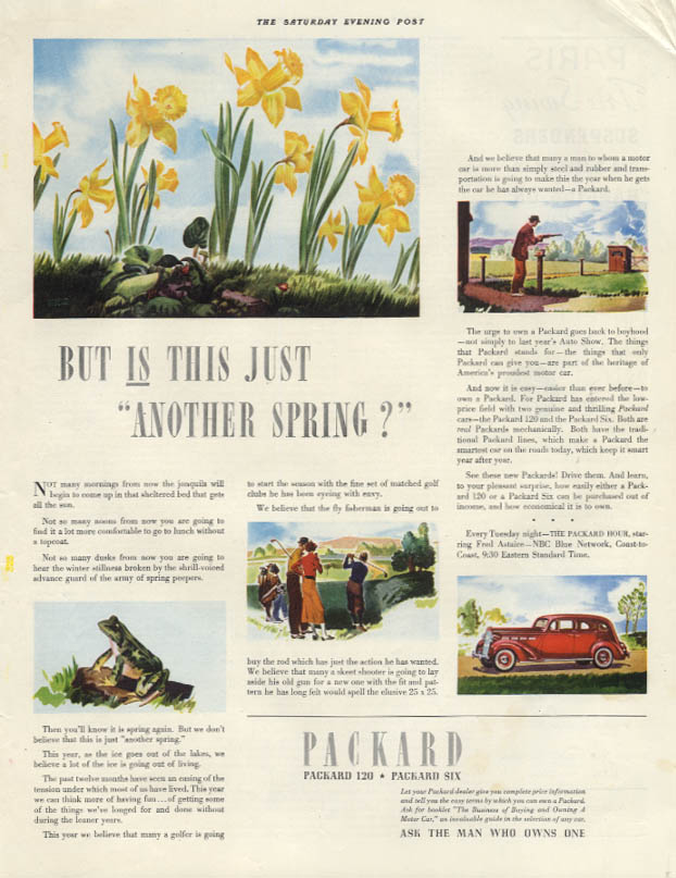 But IS this just another spring? Packard 120 & Six ad 1937 SEP
