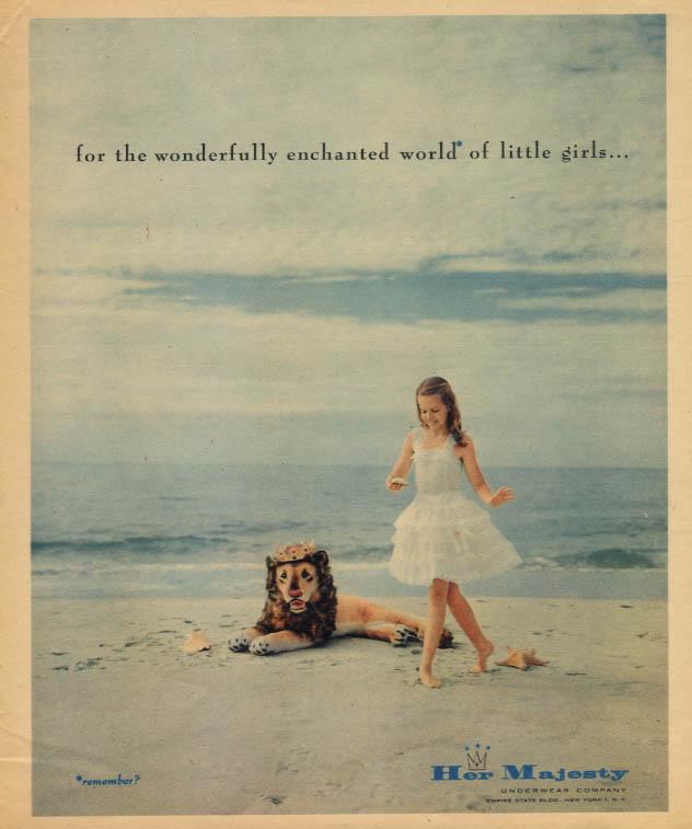 The wonderfully enchanted world of little girls Her Majesty underwear ad 1958 #1