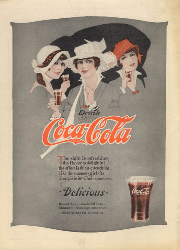 The sight refreshing, the flavor delightful Coca-Cola ad 1915 MP