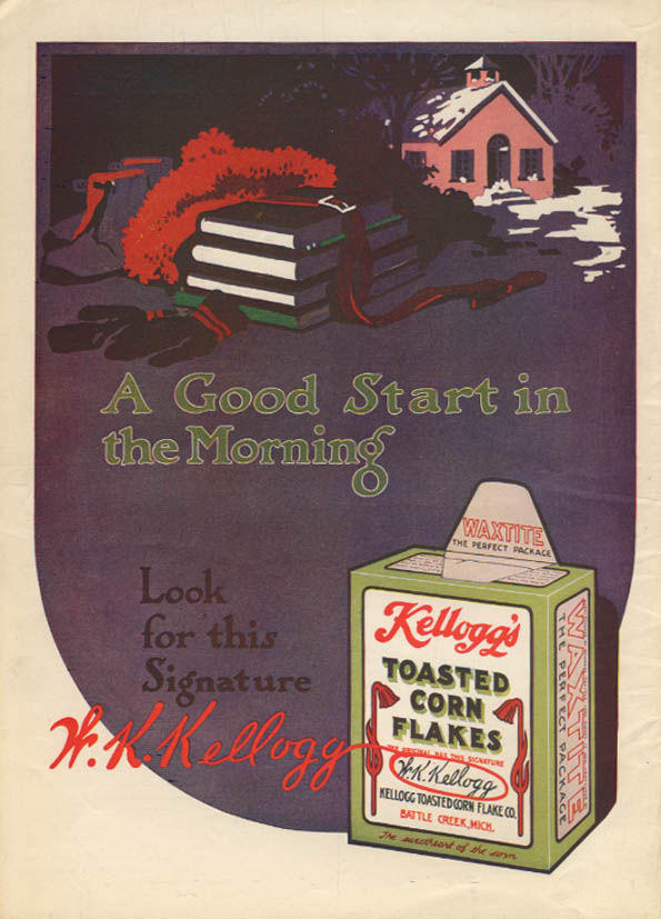 A Good Start in the Morning Kellogg's Toasted Corn Flakes ad 1915 MP