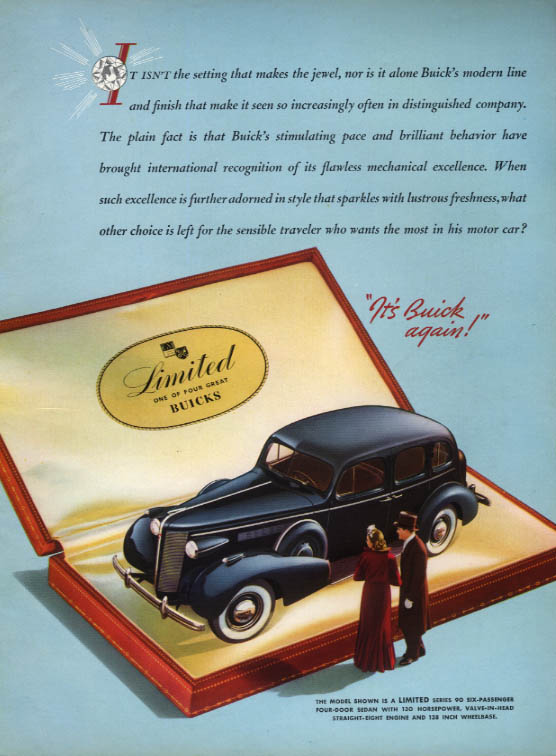 It isn't the setting that makes the jewel - Buiuck Limited Series 90 ad 1937 HG