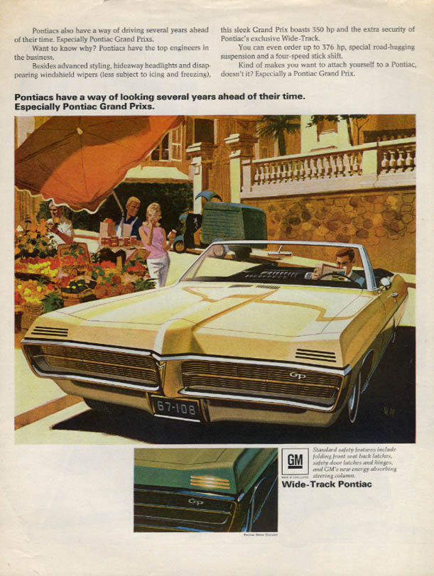 A way of looking several years ahead Pontiac Grand Prix Convertible ad 1967 L