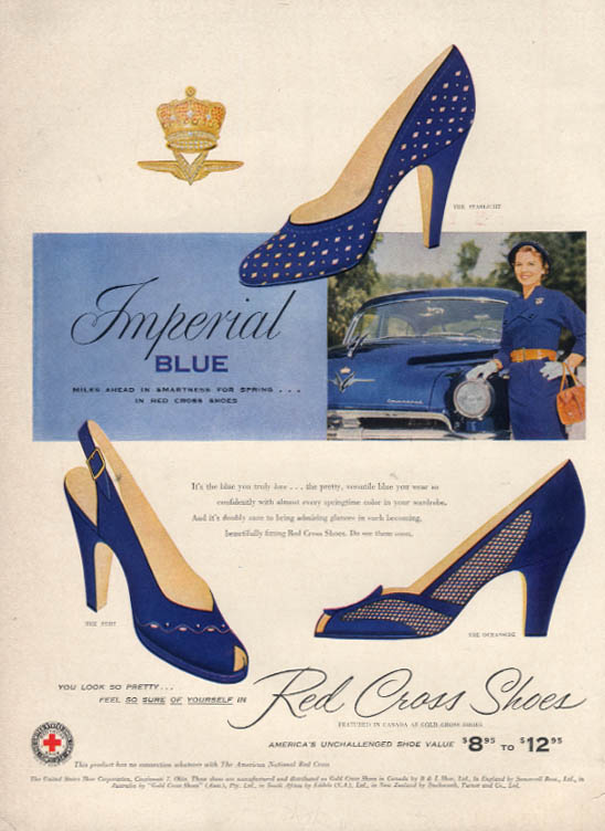 Image for Imperial Blue Red Cross Shoes ad 1953 Chrysler Imperial