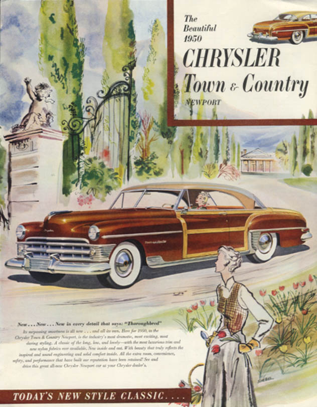 Image for The Beautiful Chrysler Town & Country Newport ad 1950 SEP