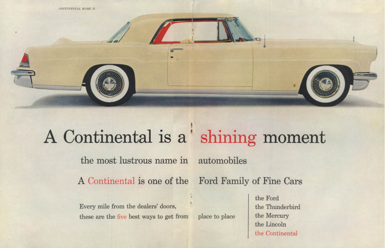 A Lincoln Continental is a shining moment ad 1956 SEP