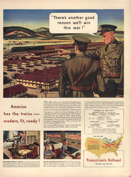 Another reason we'll win this war Pennsylvania Railroad ad 1942 L