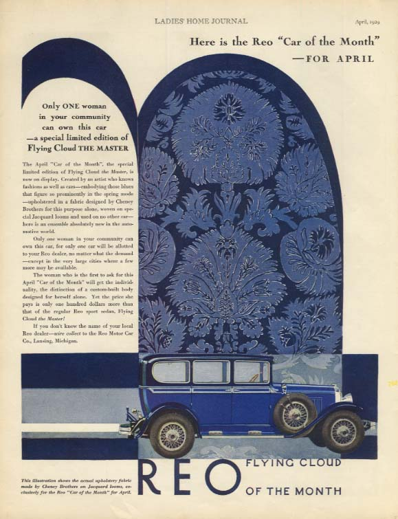Reo Flying Cloud The Master Car of the Month for April ad 1929 LHJ