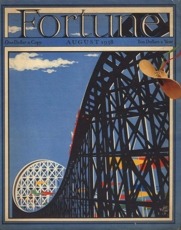 FORTUNE Cover Rollercoaster / The Children's Hour Bermuda Tourism ad 1938