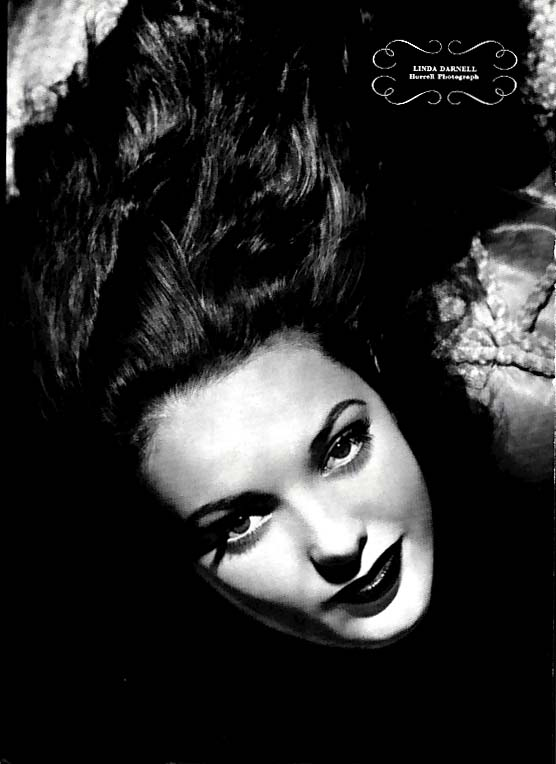 Ann Sheridan / Linda Darnell Esquire page photos by Hurrell 1941