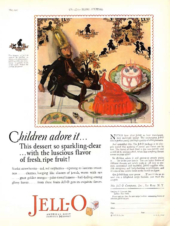 Fortunate indeed she owns a Paide Eight / Jell-O by Marion Powers ad 1927