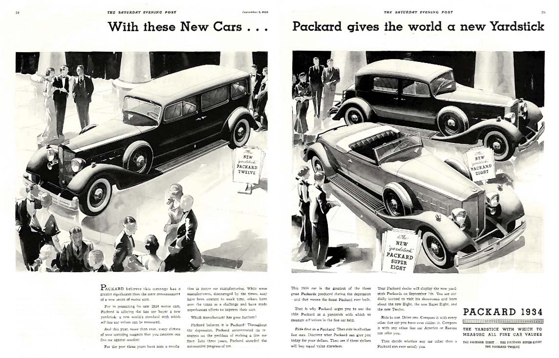 With these New Cars Packard Gives the World a new Yardstick ad 1934 SEP