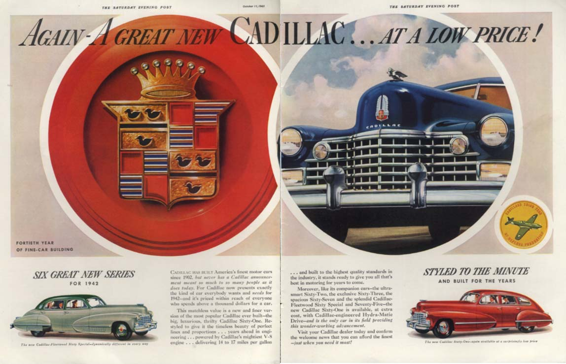 Again - a Great New Cadillac at a low price! Ad 1942 SEP