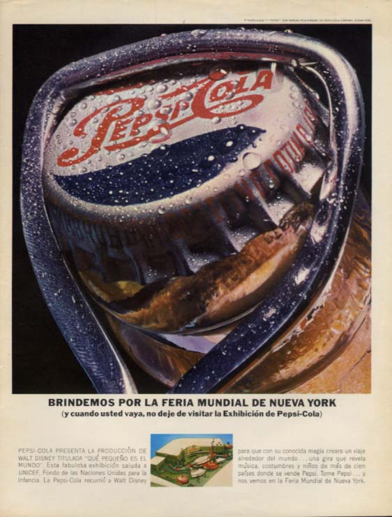 Brindemos por Feria Mundial NY World's Fair Pepsi ad in Spanish 1964