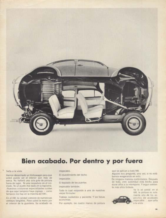 Bien acabado. Por dento y por fuera Volkswagen ad in Spanish 1965