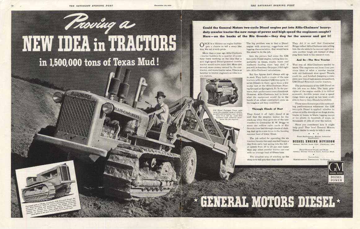 Image for New Idea in Tractors in Rio Grande Mud - Allis Chalmers HD-14 Tractor ad 1939 P