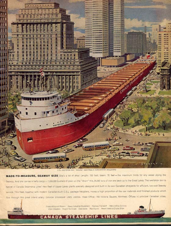 Made-to-Measure seaway size Canada Steamship Lines S S Whitefish Bay ad 1963