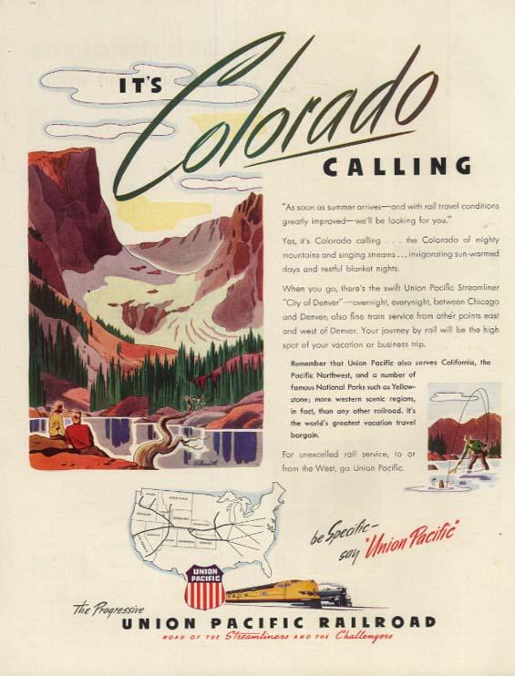 It's Colorado Calling - Union Pacific Railroad ad 1946 H