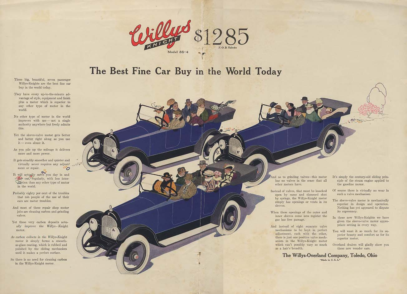 Image for The Best Fine Car Buy in the World Today - Willys-Knight ad 1917