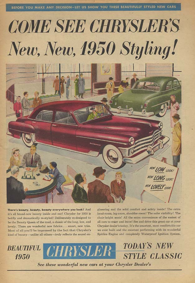 Image for Come See Chrysler's New New New Yorker 1950 Styling! Ad  AW