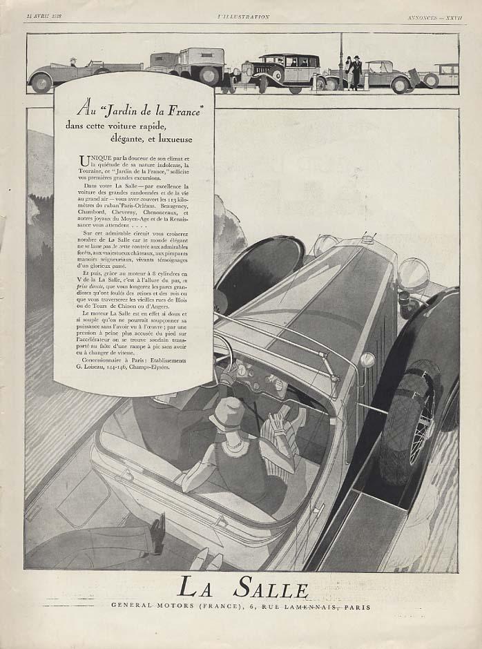 Au Jardin de la France dans cette voiture rapide La Salle ad 1928