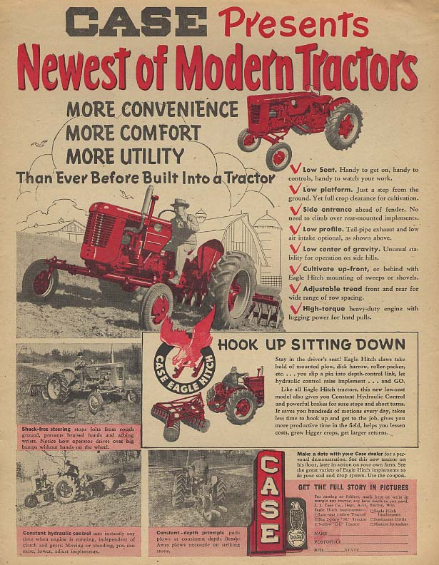 Case presents the Newest of Modern Tractors ad 1953