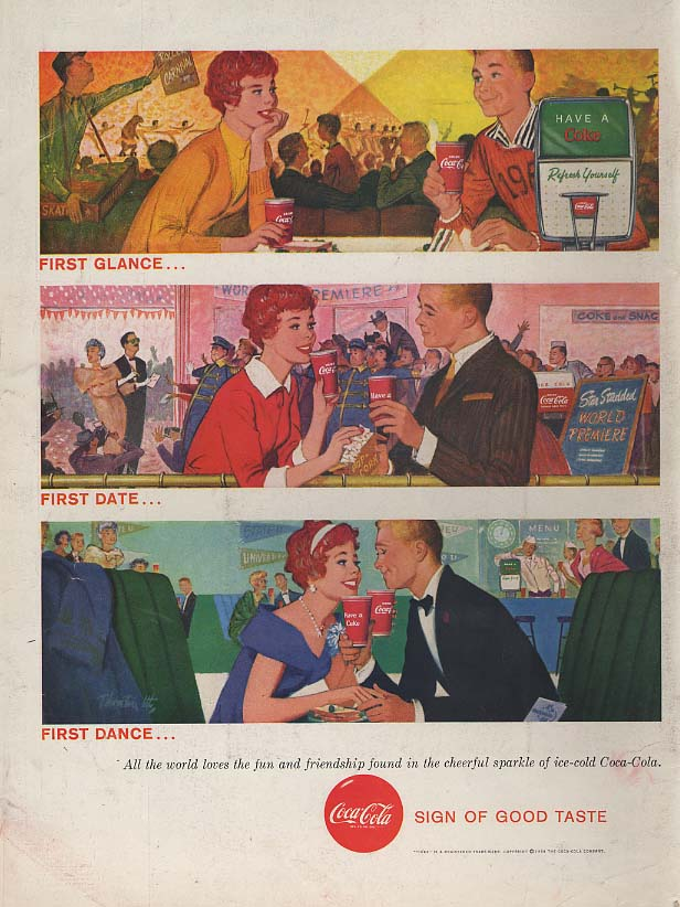 First glance - First date - First Dance - Coca-Cola ad 1958 L