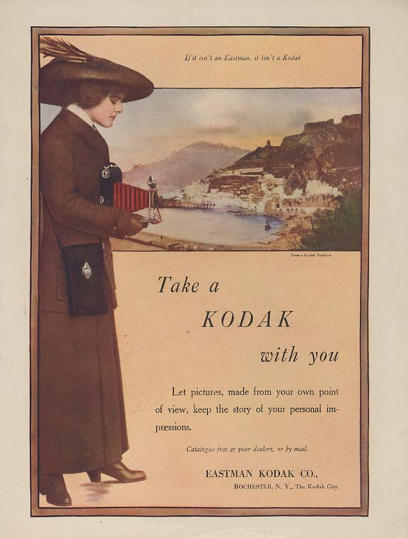 Take a Kodak with you - camera ad 1913