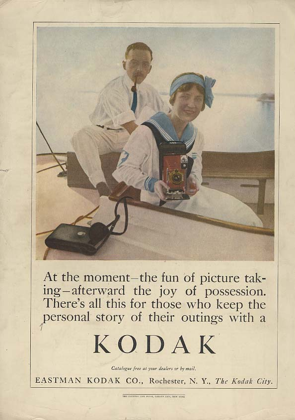 At the moment the fun of picture taking Kodak Camera ad 1913 CL